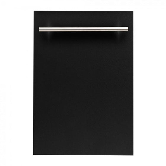 "ZLINE 18"" Dishwasher in Black Matte, Stainless Steel Tub, DW-BLM-H-18 - Farmhouse Kitchen and Bath"