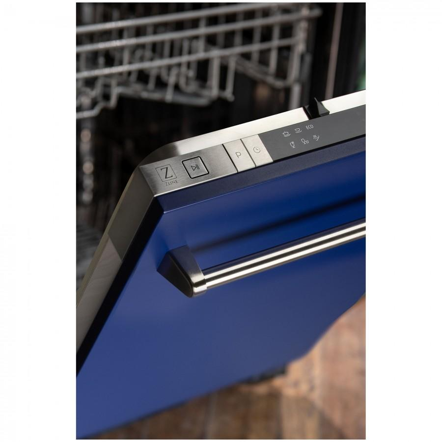 "ZLINE 18"" Dishwasher in Blue Matte, Traditional Style Handle, DW-BM-18 - Farmhouse Kitchen and Bath"