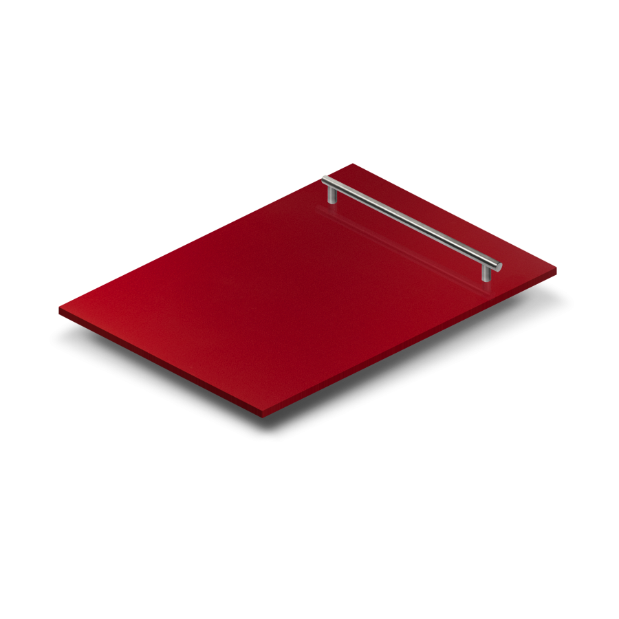 "18"" Dishwasher Panel in Red Gloss, (DP-RG-H-18) - Farmhouse Kitchen and Bath"
