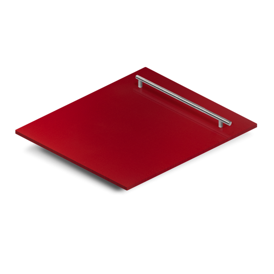 "24"" Dishwasher Panel in Red Gloss, (DP-RG-H-24) - Farmhouse Kitchen and Bath"