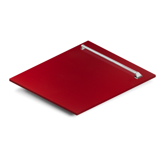 "24"" Dishwasher Panel in Red Gloss, (DP-RG-24) - Farmhouse Kitchen and Bath"