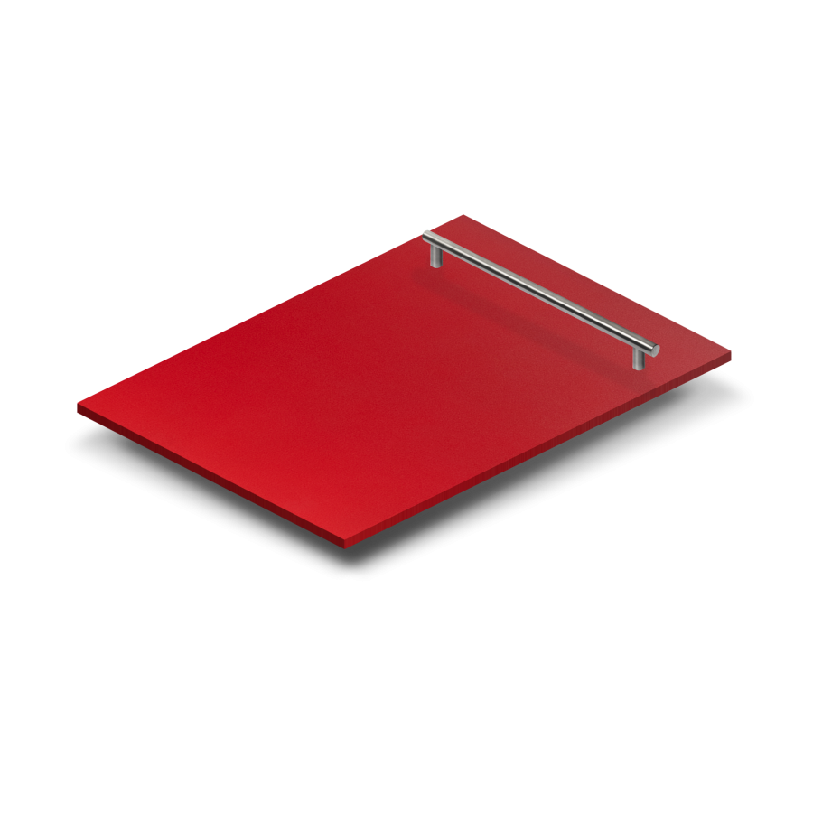 "18"" Dishwasher Panel in Red Matte, (DP-RM-H-18) - Farmhouse Kitchen and Bath"