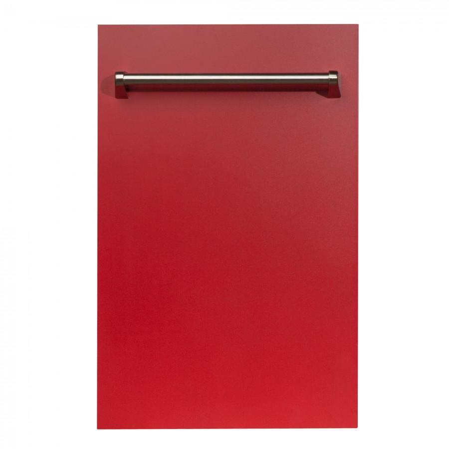 "18"" Dishwasher Panel in Red Matte, (DP-RM-18) - Farmhouse Kitchen and Bath"