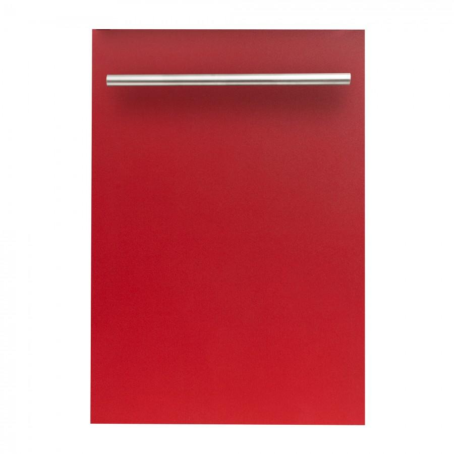 "ZLINE 18"" Dishwasher, Red Matte, Stainless Steel Tub, DW-RM-H-18 - Farmhouse Kitchen and Bath"