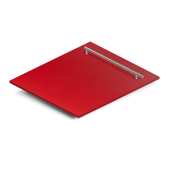 "24"" Dishwasher Panel in Red Matte, (DP-RM-H-24) - Farmhouse Kitchen and Bath"