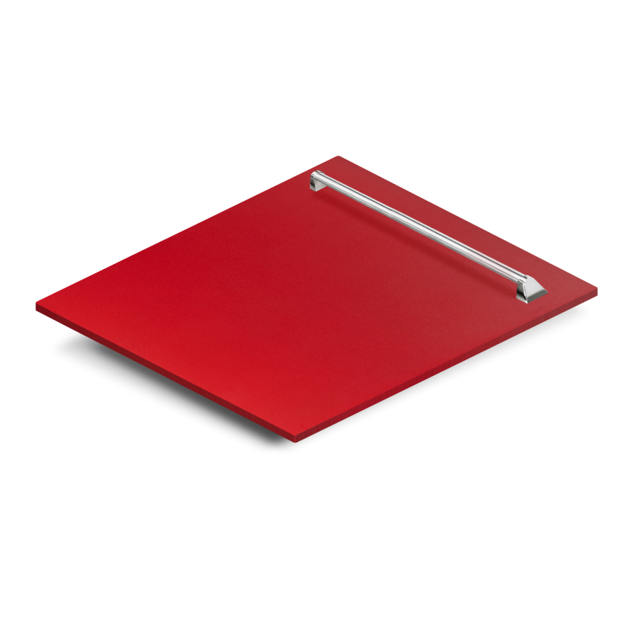 "24"" Dishwasher Panel in Red Matte, (DP-RM-24) - Farmhouse Kitchen and Bath"