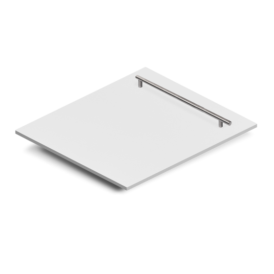 "24"" Dishwasher Panel in White Matte, (DP-WM-H-24) - Farmhouse Kitchen and Bath"
