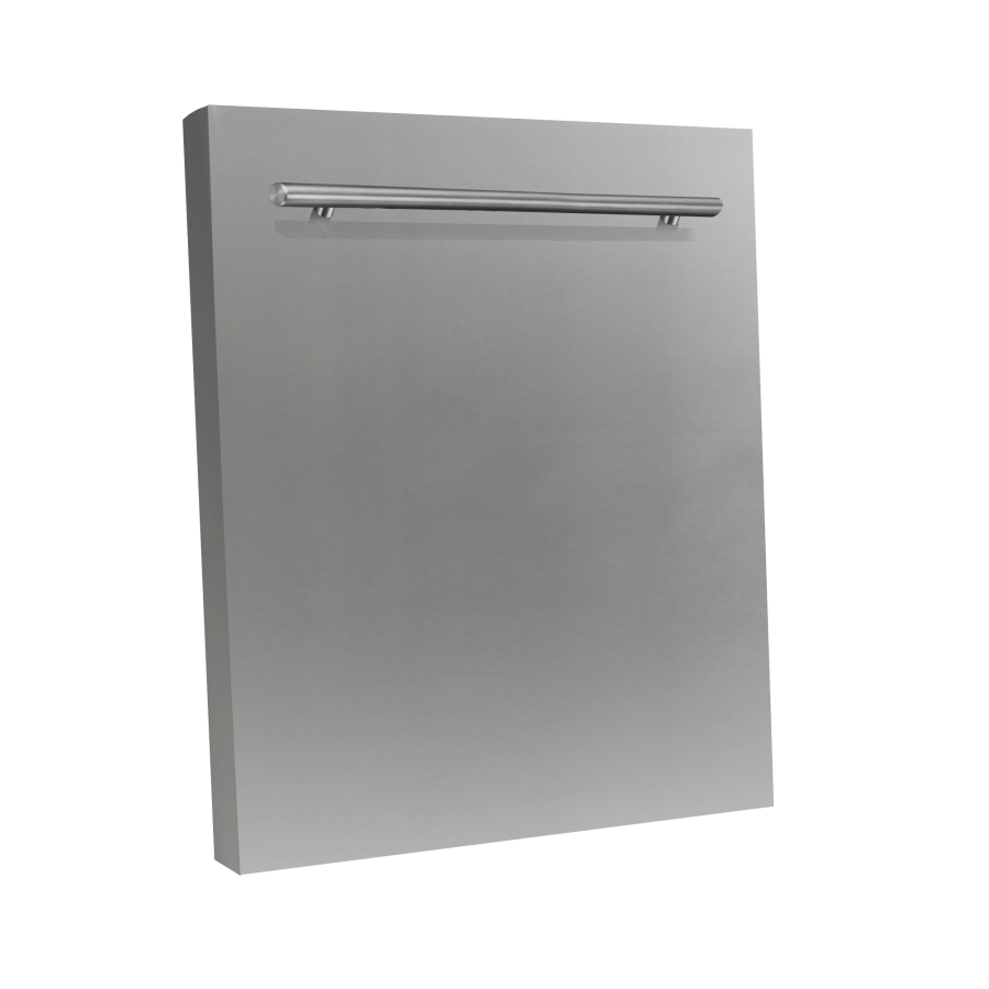 "ZLINE 24"" Dishwasher Panel, Stainless Steel, Modern Handle, DP-304-24 - Farmhouse Kitchen and Bath"