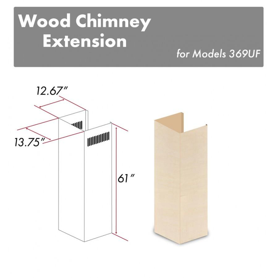 "ZLINE 61"" Wooden Chimney Extension for Ceilings up to 12.5' 369UF-E - Farmhouse Kitchen and Bath"