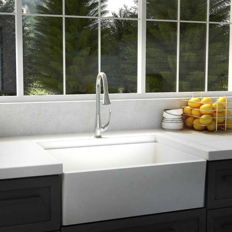 ZLINE Castor Kitchen Faucet, FPBC-CH - Farmhouse Kitchen and Bath