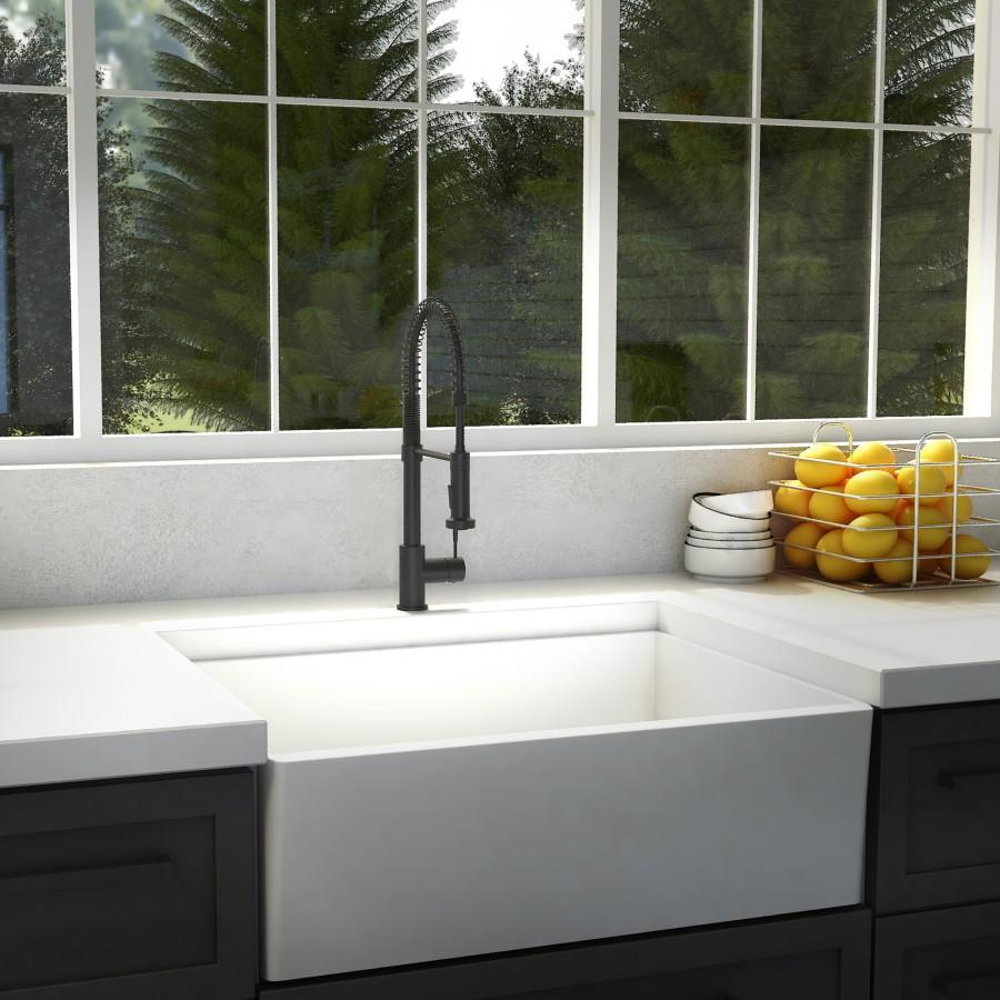 ZLINE Apollo Kitchen Faucet, FSNZ-MB - Farmhouse Kitchen and Bath