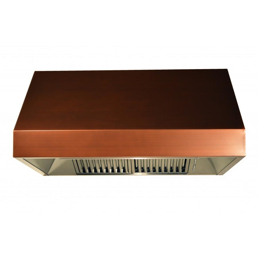 "ZLINE 36"" Copper Under Cabinet Range Hood, 8685C-36 - Farmhouse Kitchen and Bath"