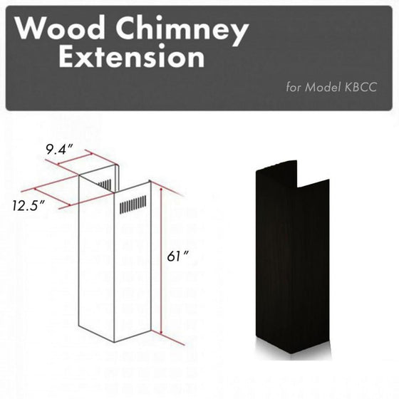 ZLINE 61 in. Wooden Chimney Extension for Ceilings up to 12.5 ft.,KBCC-E - Farmhouse Kitchen and Bath