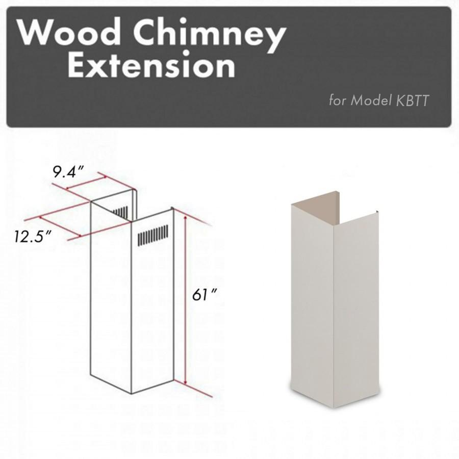 "ZLINE 61"" Wooden Chimney Extension for Ceilings up to 12.5', KBTT-E - Farmhouse Kitchen and Bath"