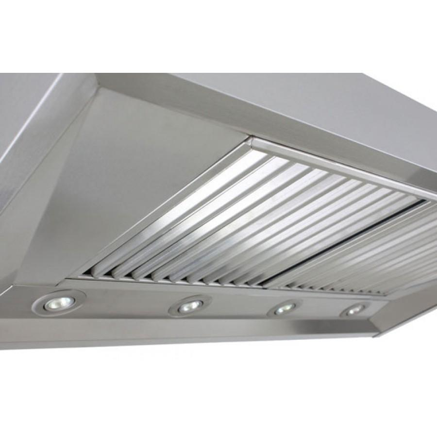 "ZLINE 48"" Outdoor Wall Stainless Steel Range Hood, KECOM-304-48 - Farmhouse Kitchen and Bath"