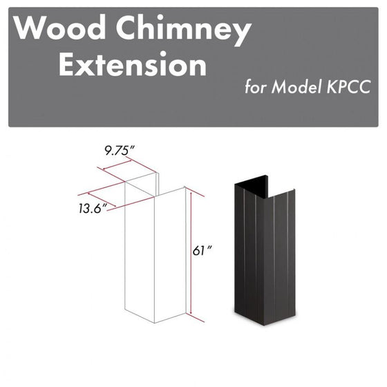 "ZLINE 61"" Wooden Chimney Extension for Ceilings up to 12', KPCC-E - Farmhouse Kitchen and Bath"