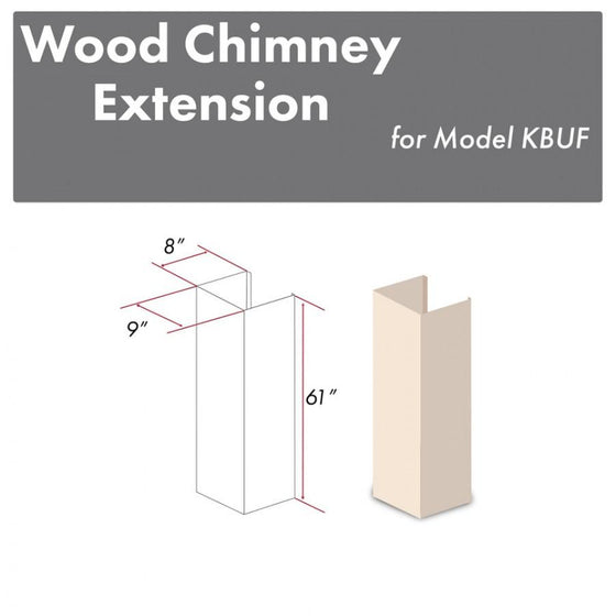 "ZLINE 61"" Wooden Chimney Extension for Ceilings up to 12.5', KBUF-E - Farmhouse Kitchen and Bath"