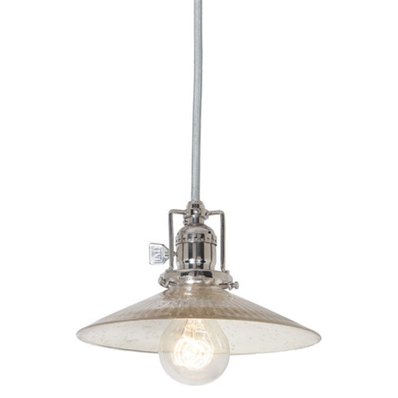 "JVI Design 1 Light Union Square Pendant 8"",15' Cord, 1201 S1 SR - Farmhouse Kitchen and Bath"