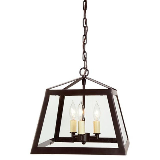 JVI 3 Light Medium Troy Lantern Clear Glass, 3036-08 - Farmhouse Kitchen and Bath
