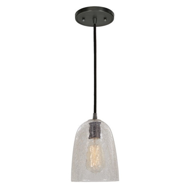 "JVI Design 1 Light Grand Central Pendant 6"" RAMONA 1300 G4 CK - Farmhouse Kitchen and Bath"