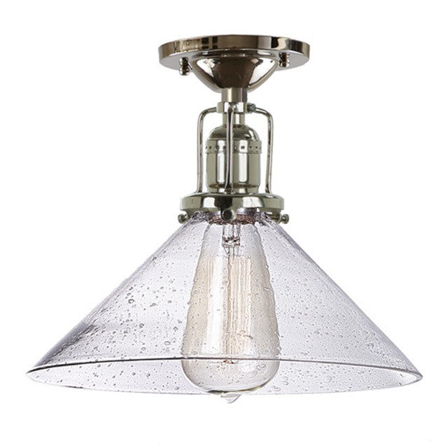 "JVI Designs 1 Light Union Square Ceiling 10"" Conical, 1202 S2 CB - Farmhouse Kitchen and Bath"