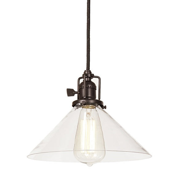 "JVI Design 1 Light Union Square Pendant 10"" Wide, 1200 S2 - Farmhouse Kitchen and Bath"