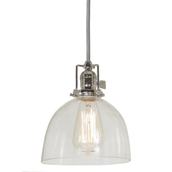 "JVI Design 1 Light Union Square Pendant 7"",15' clear cord, 1201 S5 - Farmhouse Kitchen and Bath"