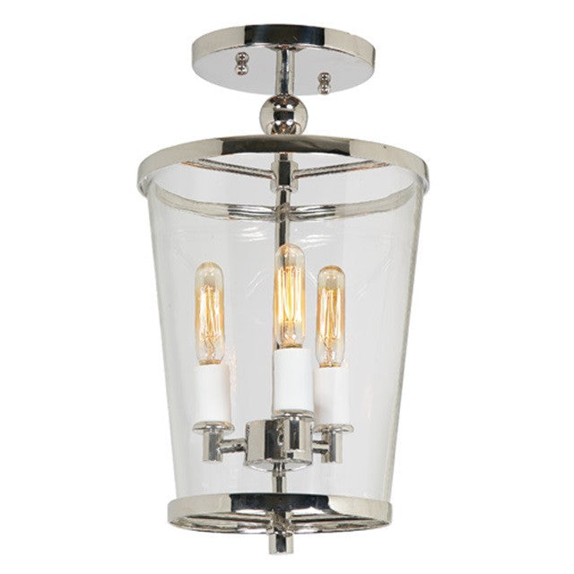 JVI Designs Charleston 3 Light Small Semi Flush, 3052 - Farmhouse Kitchen and Bath