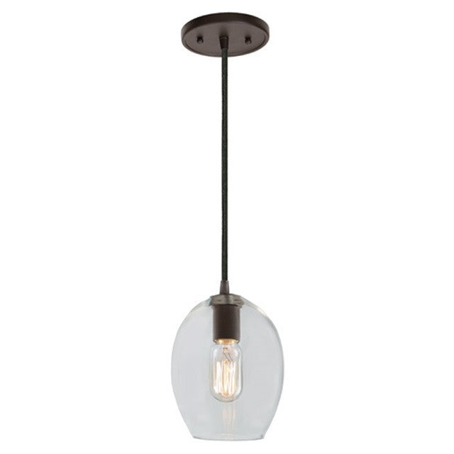 "JVI Design 1 Light Grand Central Pendant 6""Clear, 1300 G3 - Farmhouse Kitchen and Bath"