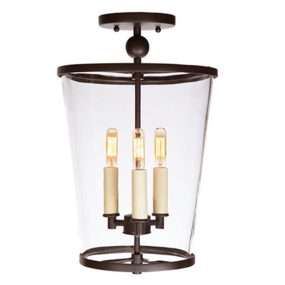 JVI Designs Charleston 3 Light Medium Semi Flush, 3053 - Farmhouse Kitchen and Bath