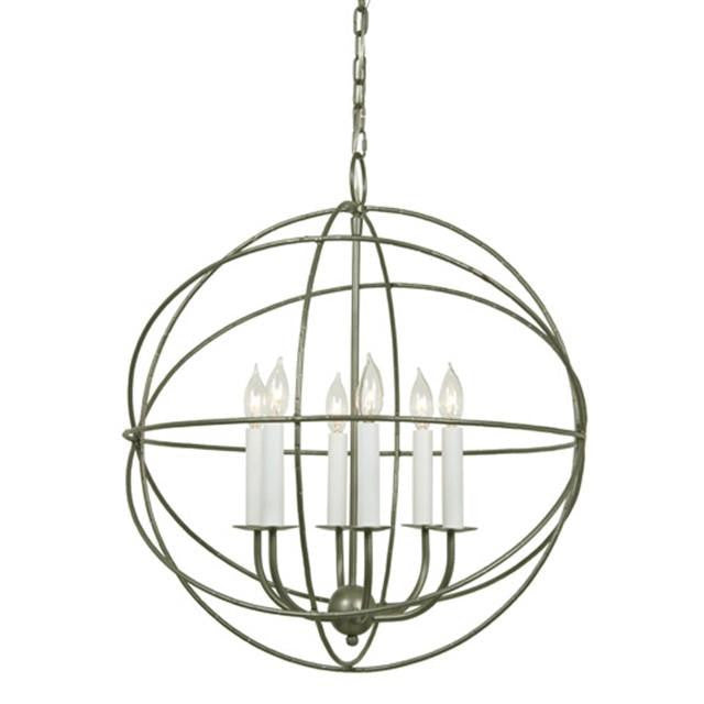 JVI Designs 6 Light Globe Chandelier, 3033 - Farmhouse Kitchen and Bath