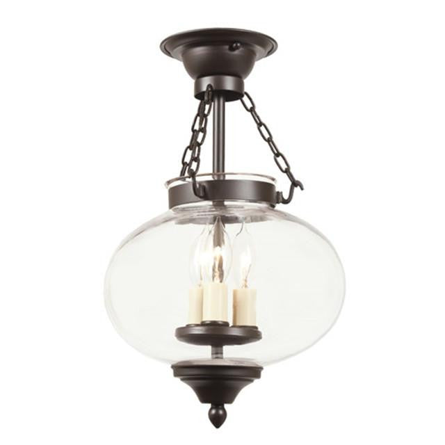 JVI Designs 3 Light Medium Semi Flush Onion Lantern, 1174 - Farmhouse Kitchen and Bath