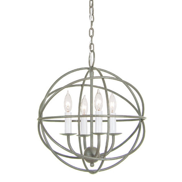 JVI Designs 4 Light Globe Chandelier, 3031 - Farmhouse Kitchen and Bath