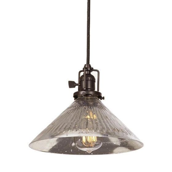 "JVI Design 1 Light Union Square Pendant 10"" Ribbed, 1200 S2 SR - Farmhouse Kitchen and Bath"
