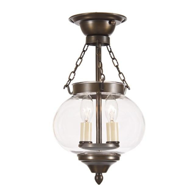 JVI Designs 2 Light Small Semi Flush Onion Lantern, 1171 - Farmhouse Kitchen and Bath