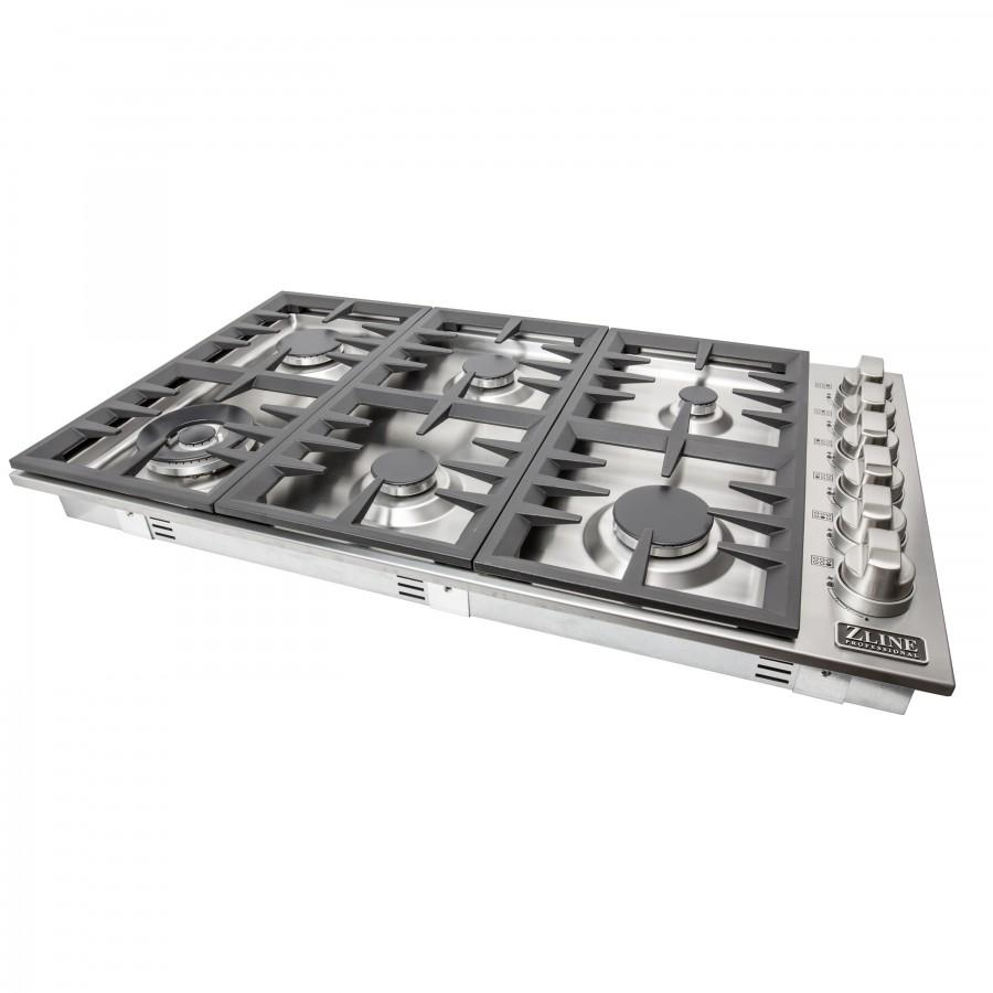 ZLINE 36 inch Dropin Cooktop with 6 Gas Burners, RC36 - Farmhouse Kitchen and Bath
