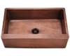 Polaris Single Bowl Copper Farmhouse Apron Sink P319 - Farmhouse Kitchen and Bath