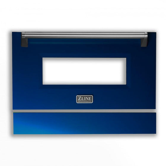 "36"" Range Door in Blue Gloss, RA-DR-BG-36 - Farmhouse Kitchen and Bath"