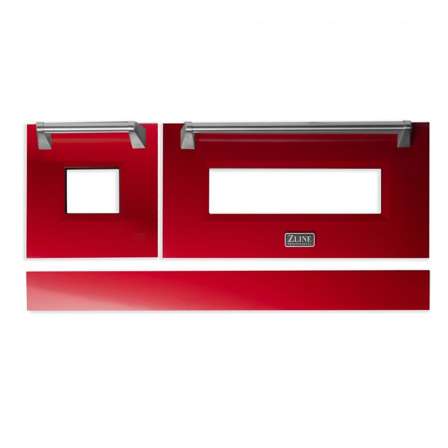 "48"" Range Door in Red Gloss, RA-DR-RG-48 - Farmhouse Kitchen and Bath"