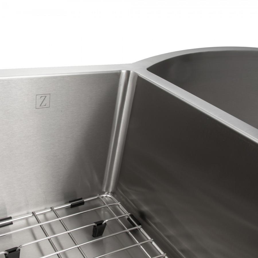 "ZLINE 33"" Undermount Double Bowl Sink in Stainless Steel, SC30D-33 - Farmhouse Kitchen and Bath"