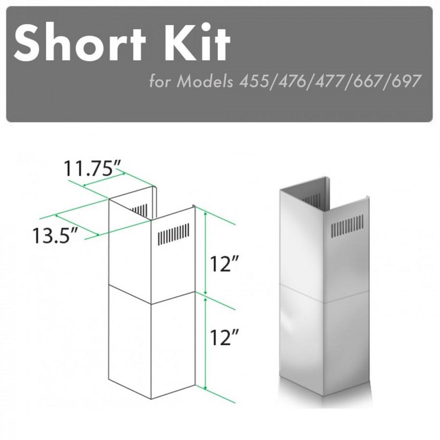 ZLINE Short Kit for 8ft. Ceilings, SK-455/476/477/667/697 - Farmhouse Kitchen and Bath