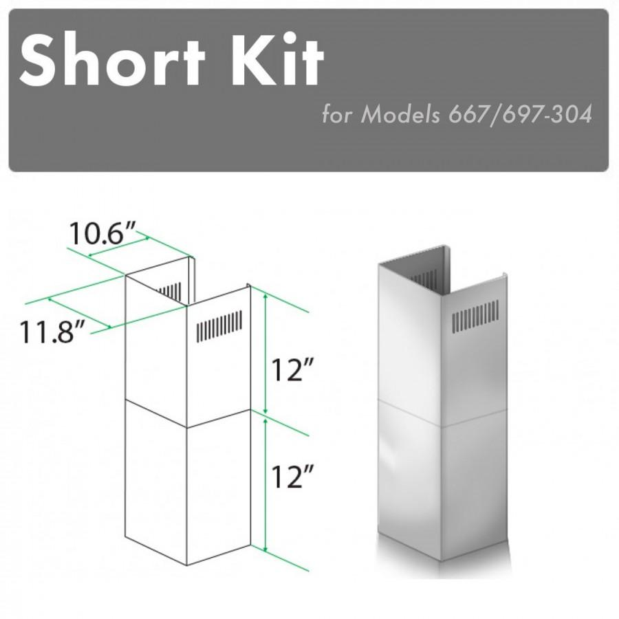 ZLINE Short Kit for 8' Ceilings-Outdoor Wall, SK-667/697-304 - Farmhouse Kitchen and Bath