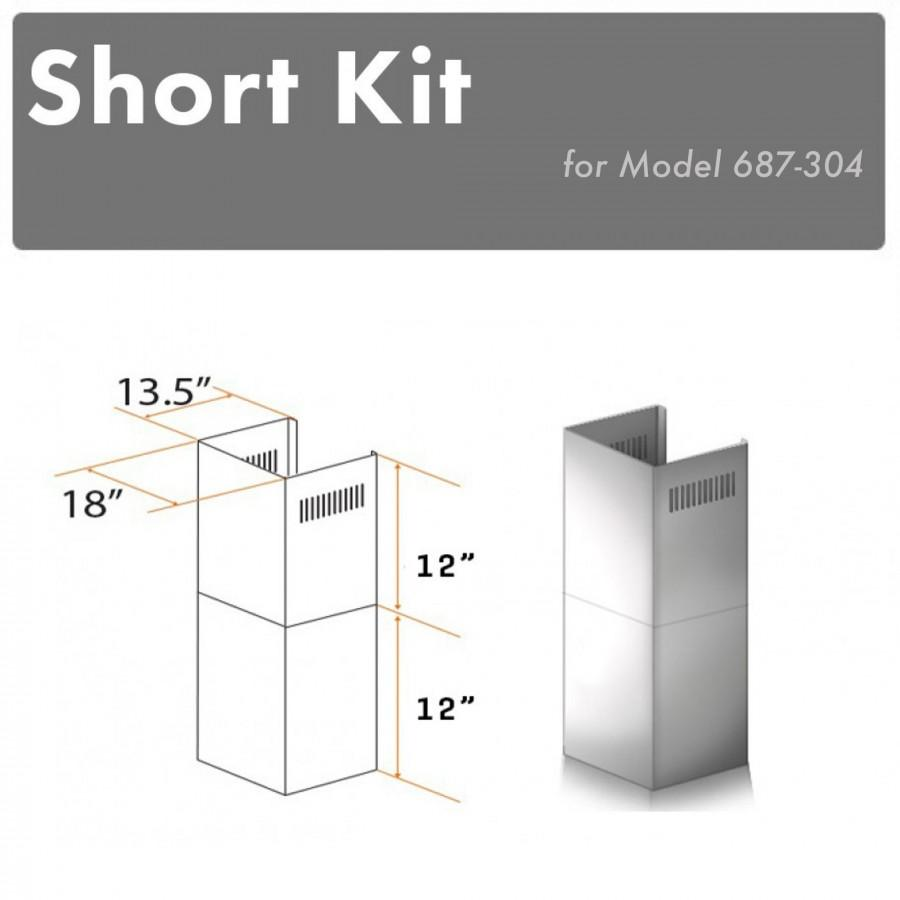 ZLINE Short Kit for 8' Ceilings-Outdoor Wall, SK-687-304 - Farmhouse Kitchen and Bath