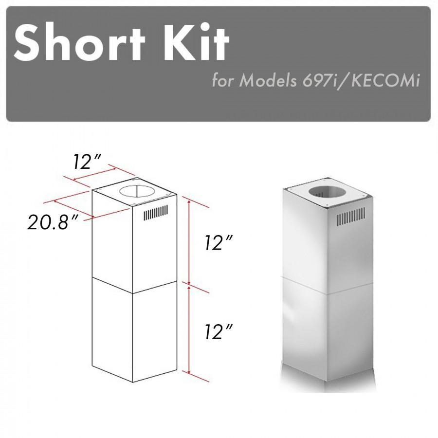 ZLINE Short Kit for Ceilings Under 8', SK-697i/KECOMi - Farmhouse Kitchen and Bath
