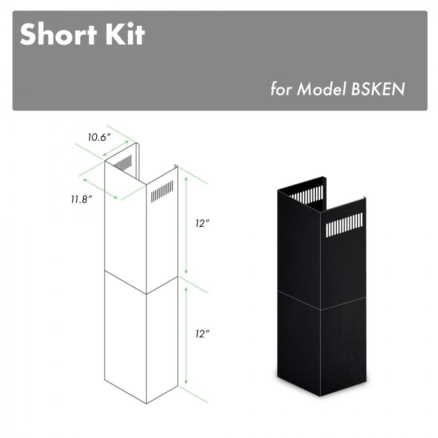 "ZLINE 2-12"" Short Chimney Pieces for 7 ft. to 8 ft. Ceilings (SK-BSKEN) - Farmhouse Kitchen and Bath"