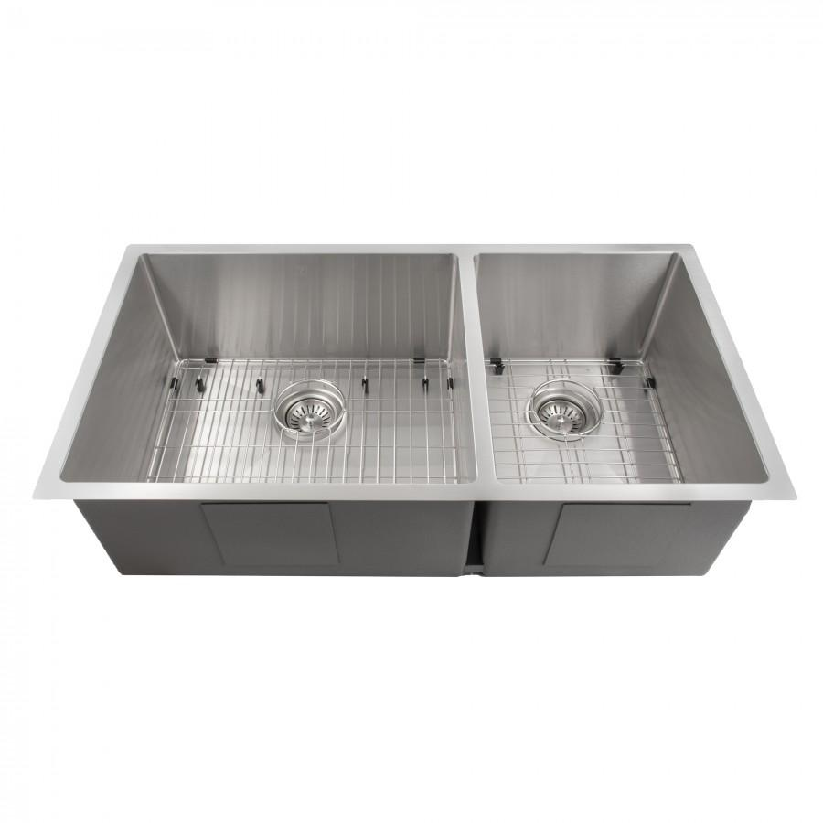 "ZLINE 36"" Undermount Double Bowl Sink in Stainless Steel, SR60D-36 - Farmhouse Kitchen and Bath"