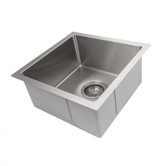 "ZLINE 15"" Undermount Single Bowl Bar Sink in Stainless Steel, SUS-15 - Farmhouse Kitchen and Bath"