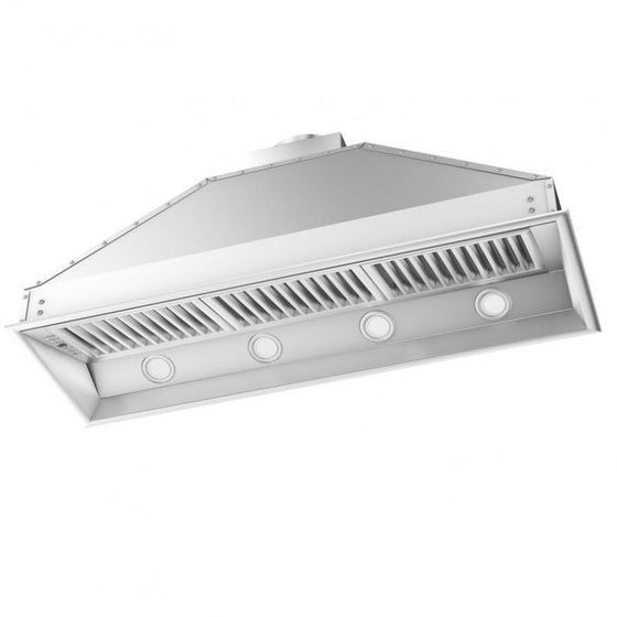 "ZLINE 46"" Stainless Steel Under Cabinet Range Hood Insert, 698-46 - Farmhouse Kitchen and Bath"