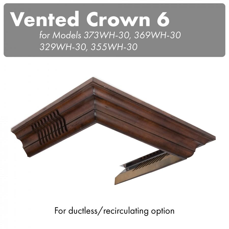 ZLINE Vented Crown Molding Profile 6 for Wall Mount Range Hood, CM6V-300W - Farmhouse Kitchen and Bath