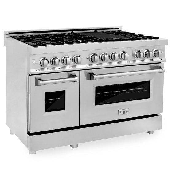 "ZLINE 48"" Free-Standing 7 gas burner range with Griddle RA48"